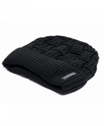 BCOCOB Winter Knitting Slouchy Beanie in Men's Skullies & Beanies