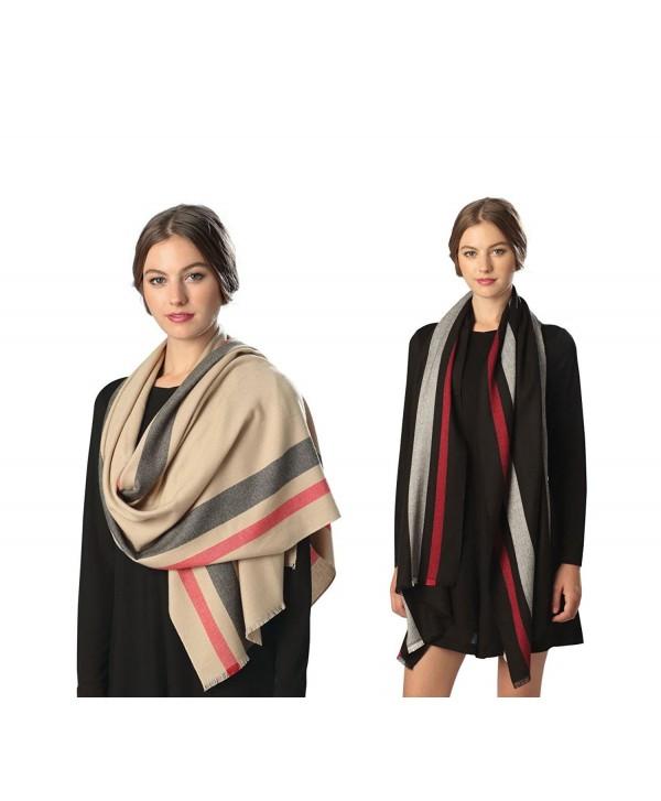 Fashion 21 Women's Luxury Fashion Trendy Warm Scarf Shawl Wrap in Many Design - Ivory - CG12M8NPJ5J