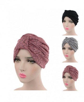 Ever Fairy Printed Headwear headscarf - Black and Grey and Pink(3pcs) - CI17YWC7Y7T