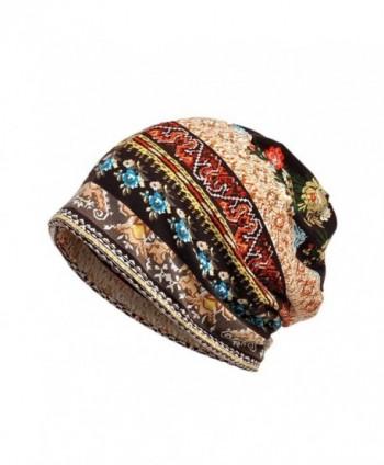 Staron Unisex Cotton Scarf Hat Ruffle Cancer Beanie Collar Turban Head Wrap Cap - Coffee - CU188YGSCES