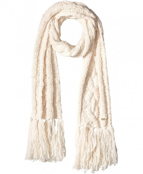 Cole Haan Women's Chunky Cable Scarf with Fringe - Ivory - CV12GA0DHFT