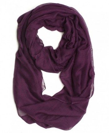 DRY77 Solid Infinity Scarf Purple