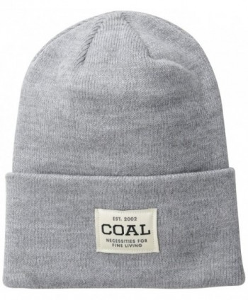 Coal Men's The Uniform Fine Knit Workwear Cuffed Beanie Hat - Heather Grey - CZ11J464ULD