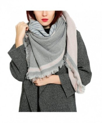 RACHAPE Winter Blanket Scarf for Women Fashion Large Soft Shawl - Pink - CX12O4YF23R