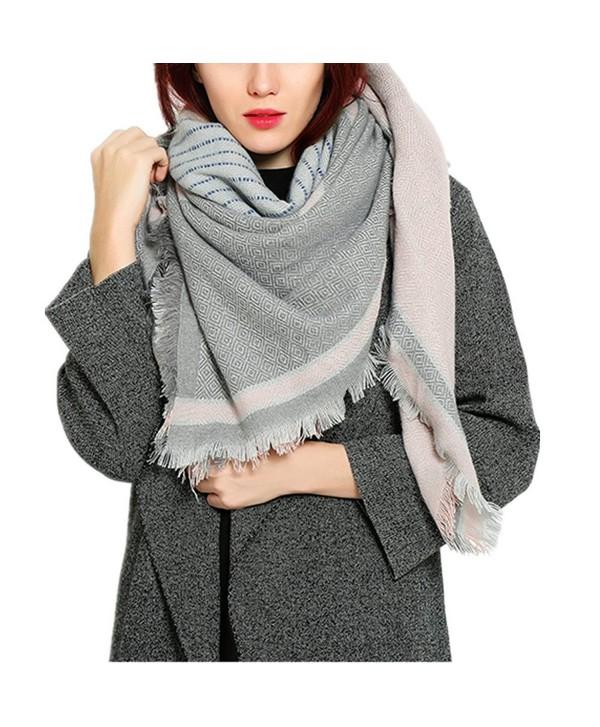 RACHAPE Winter Blanket Scarf for Women Fashion Large Soft Shawl - Pink - CX12O4YF23R