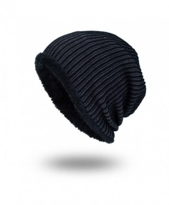 Highpot Winter Stripe Beanie Black