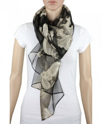 Achillea Burnout Evening Embroidered Paisley in Fashion Scarves