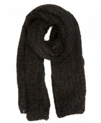 Sakkas Grecia Women's Solid Long Extra Soft Textured Winter Scarf - Black - CQ124LZ943Z