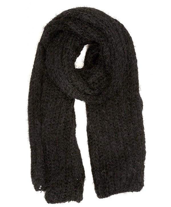 Sakkas Grecia Women's Solid Long Extra Soft Textured Winter Scarf - Black - CQ124LZ943Z