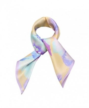 Neckerchief Square Scarves Floral Yellow