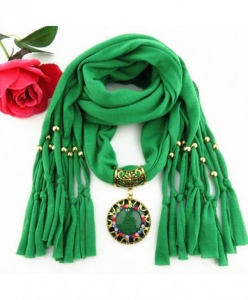 DDLBiz Pendant Rhinestone Jewelry Scarves
