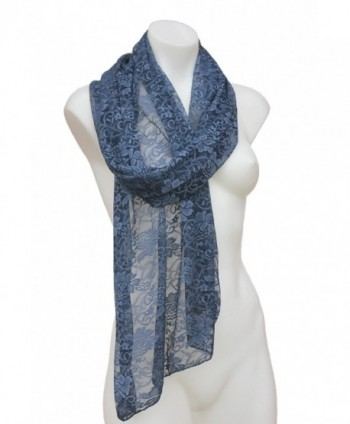 Terra Nomad Womens Sheer Floral in Fashion Scarves