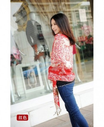 Reversible Paisley Pashmina Chinese Red in Fashion Scarves