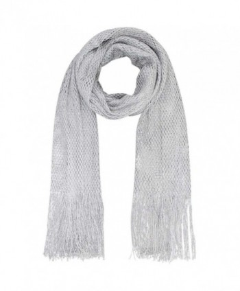 Lightweight Mesh Metallic Scarf - Silver - CD112FPGD97