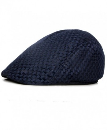 Acamifashion Unisex Duck Mesh Sun Flat Cap Golf Beret Newsboy Cabbie Hat - Navy Blue - C512ODKIEHW