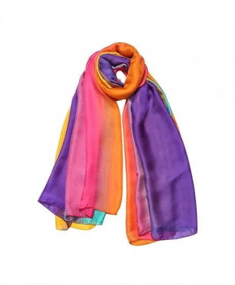 Scarf for Women Gradient Colors Scarves Silk Feel Long Lightweight Soft Shawls for Women - L-love - CJ183NNGTSC