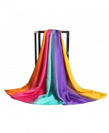 Gradient Colors Scarves Lightweight Shawls