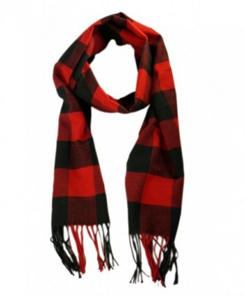 Comets Unisex Plaid Cashmere Winter in Cold Weather Scarves & Wraps