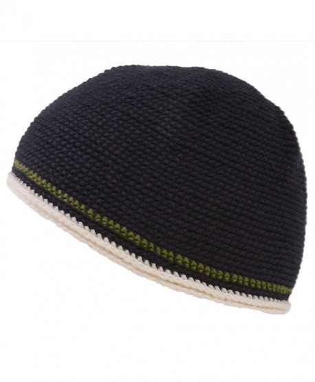 CHARM Casualbox Mens Womens Skull Cap Beanie Hand Knitted Elastic Tight Japanese - Black - CO11O5JI1VJ