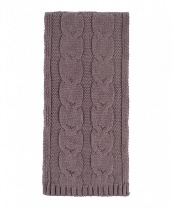Great and British Knitwear Ladies' 100% Cashmere Cable Knit Scarf. Made in Scotland - Clay - CA12O9ASQ8I