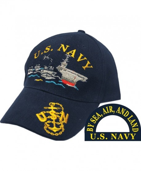 Eagle Emblems Men's US Navy Ship Fleet Embroidered Ball Cap - black - C011SRQ6MNP