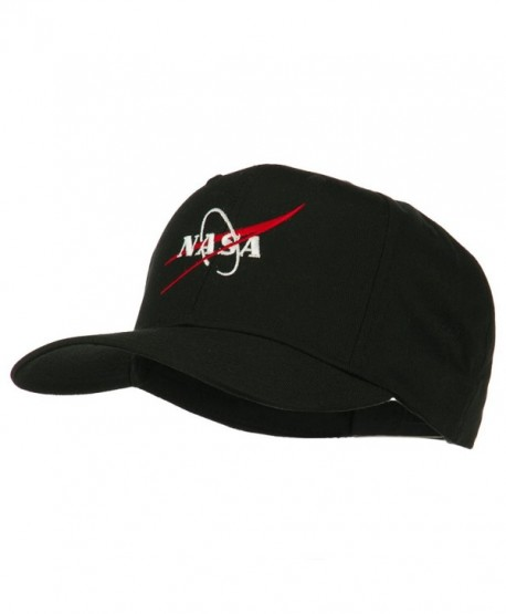 NASA Logo Embroidered Cotton Twill Cap - Black - CP11Q3T4DLV