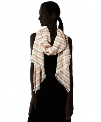Womens Distressed Stripe Oblong Orange in Fashion Scarves