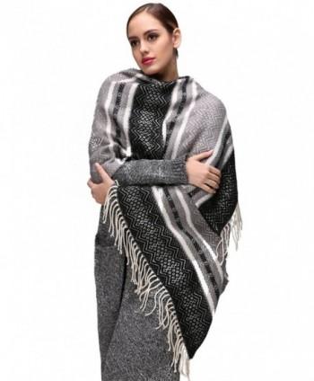 EVRFELAN Oversized Blanket Bohemian Pashmina in Wraps & Pashminas