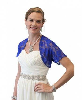 Royal Blue Lace Bolero- Lace Shrug- Wedding Shawl - Royal Blue - CY17YHHNU09