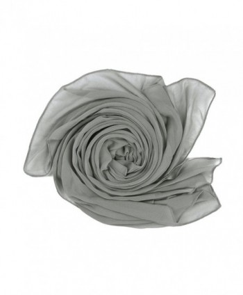 Elegant Chiffon Scarf Wrap Wedding Bridal Party Occasion Prom - 28 Colours - Silver Coin - CL186QYA3MZ