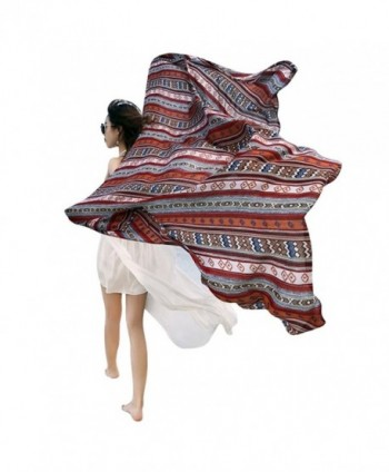 GERINLY Summer Beach Vacation Wrap Scarf Lightweight Coverups For Bikini - Red - C3180LCET56