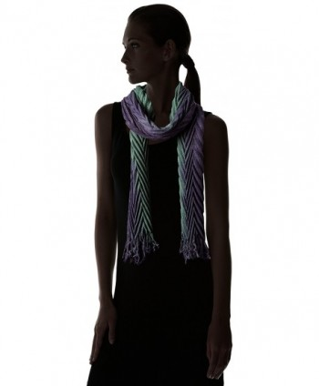 Fiorentina Womens Ombre Pleated Muffler in Fashion Scarves