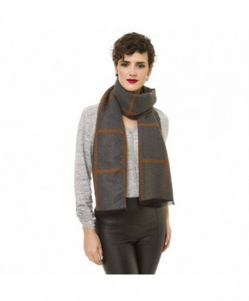 Checker Reversible Cashmere Spring Elegant in Cold Weather Scarves & Wraps