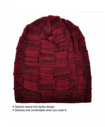 Joyingtwo Winter Fleece Slouchy Red in Men's Skullies & Beanies