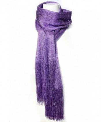 KMystic Sheer Glitter Sparkle Fringed in Fashion Scarves