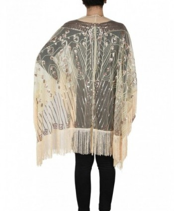 Kayamiya Womens Oversized Evening Champagne in Wraps & Pashminas