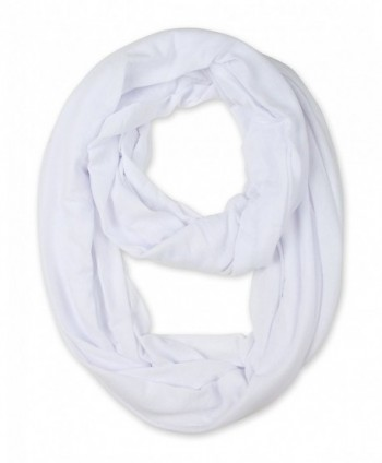 corciova Light Weight Infinity Scarf with Solid Colors - White - CV126L5CC9V