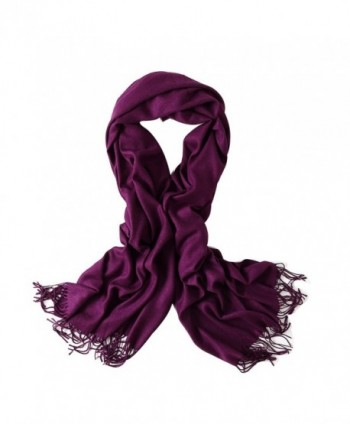 Bellonesc Cashmere Scarf Shawls for Women and Men - Purple - CX186YDR50S
