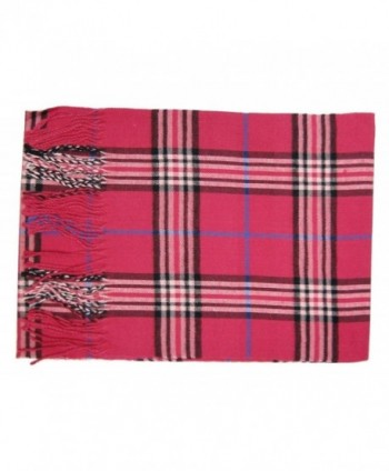 Tapp Cashmere Plaid Tassel Scarf in Fashion Scarves