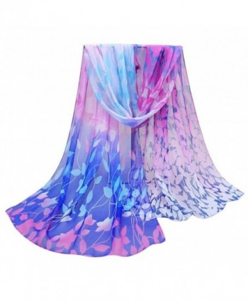 Women Autumn Winter Scarf Lady Chiffon Cotton Scarves Vovotrade - Blue - CK128N66EJP