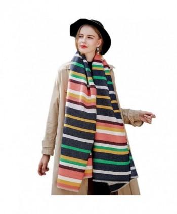 Promini Womens Stripes Tassels Blanket