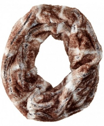 D&Y Women's Short Faux-Fur Single-Loop Infinity Scarf - Natural - C711WF83Y4L