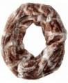 D&Y Women's Short Faux-Fur Single-Loop Infinity Scarf - Natural - C711WF83Y4L