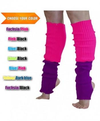 8101032e882 Women s Long Leg Warmers Cable Knit Dance Yoga - Fuchsia   Pink ...