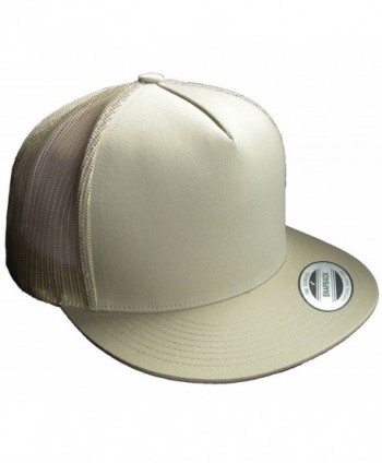 Adjustable Snapback Classic Trucker Hat by FlexFit 6006 - Khaki - CC186RSGWMZ