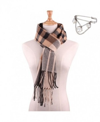Plaid Tartan Scarf Blanket-Cotton Winter Scarves Wrap Shawl for Women - Scarf a - C6189OUDUZI