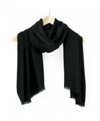 fb000b4b863 Large Soft 100% Twill Pashmina Scarf Shawl Wrap - Black - CD114EITF8T