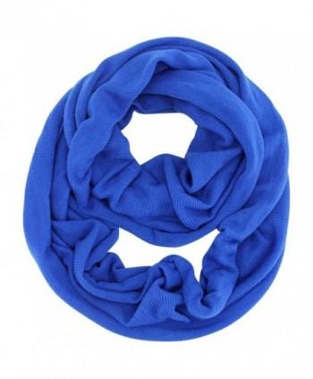 Classic Knit Winter Unisex Infinity Scarf - Blue - CU11HRPRSGR