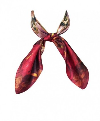 Wrapables Charmeuse Square Scarf Neckerchief in Fashion Scarves