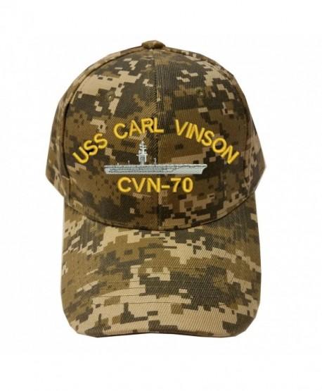 USS CARL VINSON CVN-70 Digital Camo Camouflage Military Baseball Cap Hat - C0185XQ50I0